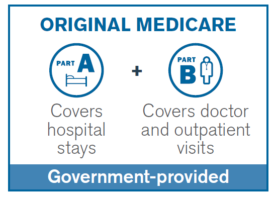 Original Medicare Part A and Part B Graph